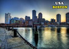 FRIDGE MAGNET USA BOSTON  MAGNETE DA FRIGO