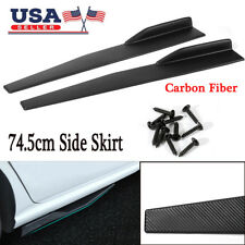 74.5cm Car Carbon Fiber Side Skirt Rocker Splitters Diffuser Winglet Wings