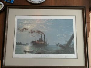 "John Stobart ""Night Run to Friar's Point"" Signed Limited Edition Print"