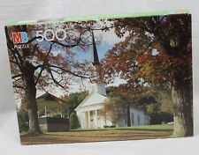 Vtg Milton Bradley Croxley Puzzle 500 Pieces SEALED BOX Sharon VT Church Autumn