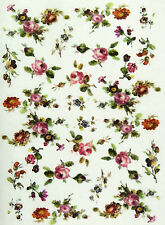 Rice Paper for Decoupage, Scrapbook Sheet, Craft Small Flowers