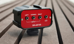 Saramonic SR-AX100 Mini Audio Mixer Adapter 2 Channel 3.5mm Inputs DSLR Cameras