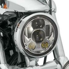 "5.75"" CREE Chrome LED Headlight For Kawasaki Vulcan Classic Custom 1700 1600 900"