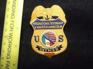 Federal Texas Intl Boundary Water Commission Police patch rare small dept last 1