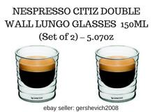 BRAND NEW NESPRESSO CITIZ DOUBLE WALL LUNGO GLASSES  150ML (Set of 2) – 5.07oz