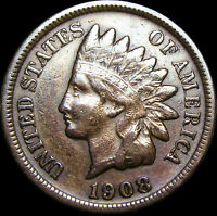 1908-S Indian Head Cent Penny ---- RARE ---- #A308
