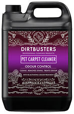 Dirtbusters Pet Carpet cleaning solution shampoo odour deodoriser 5L & vax