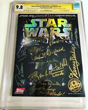 CGC 9.8 SS Star Wars 20th Anniversary Magazine signed by Ford Hamill Fisher