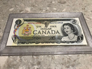 1973 - Canadian One Dollar Banknote, 1$ - Bank Of Canada