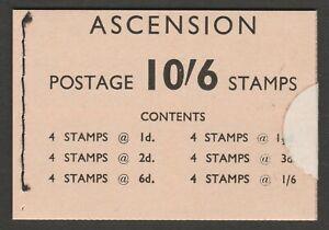 Ascension 1963 10/6d Complete sealed booklet SB1.