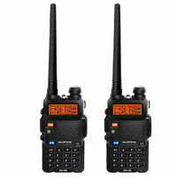2pcs Baofeng Handheld FM Dual Band VHF/UHF UV-5R Two way Walkie Talkie Radio KF