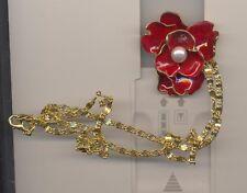 Red Enamel Flower Necklace Kenneth Lane Kjl Stunning