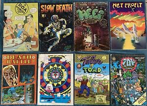 8 Miscellaneous Underground Comics Low Grade Reading Lot #2  Tales Of Toad #2