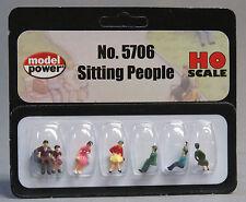 MODEL POWER HO GAUGE SITTING PEOPLE figure station park ladies MPW 5706 NEW