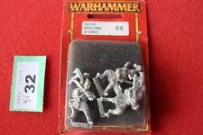 Juegos taller Warhammer alto elfo Blanco Leones de elfos de metal fuera de CHRACE x3 Nuevo Y En Caja