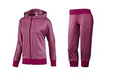 Adidas EXCLUSIVE CAPRI PANT SUIT-Jacket TRACK Hoody sweat shirt supergirl~Sz Lrg