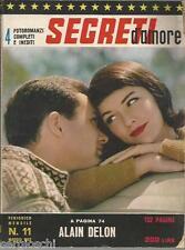FOTOROMANZI SEGRETI D'AMORE # 11-MAGGIO1963-ALAIN DELON-GEORGE CHAKIRIS