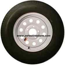 Greenball Transmaster Radial Trailer Tire and White Wheel ST205/75R15 (5 Lug)