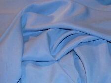 tissu microfibre bleu glacier fluide en 140 cm de large au mètre qualité +++++