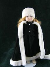 Wonderful Russian Look Porcelain Faced Doll with Stand