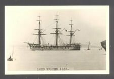 Orig Real Photo Royal Navy  H.M.S. LORD WARDEN   1865