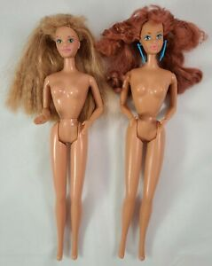 Red Head Cool Times Midge Doll Earrings & All Stars Midge 1989-90 Barbie Mattel