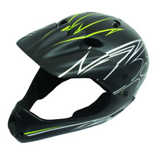ETC Bicycle Cycle BMX MTB Mountain Bike Kids Stunt Full Face Helmet Lid Black