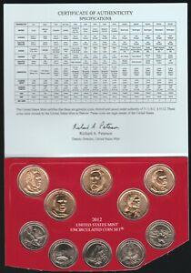 2012-D Mint Set Dollars and Quarters