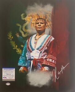 Julio Cesar Chavez Signed 16x20 Boxing Photo *HOF PSA AH98766