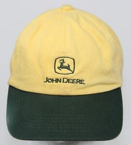 Vintage John Deere K-Products Youth Hat - Yellow & Green Buckle Strapback Cap