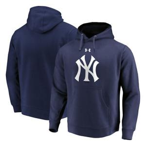 New York Yankees Hoodie (Size 5XL) Men's UnderArmour Hoodie - Navy - New