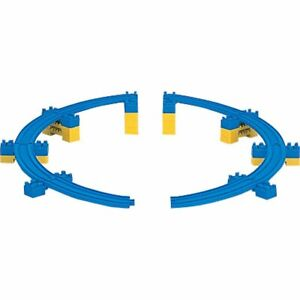 R-18 Sloping Curve Rail A/B each 4 pieces w/12 mini bridge piers by Takara