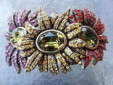 Daisies Cuff Bracelet, Size Large New Heidi Daus Bou Kay Of
