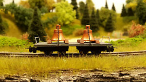 H0e Glockentransportwagen Schmalspur Feldbahn Glockenwagen