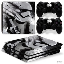 PS4 Pro Playstation 4 Console Skin Decal Sticker Star Wars Stormtrooper Design