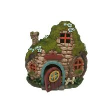 Faery Cottage With Led Lights Mini Fairy Garden Home Faerie Miniature House