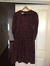 Laura Ashley Corduroy Ditsy Floral Dress Size Fr40