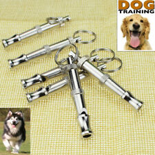 Stainless Steel Dog Puppy Pet Training Whistle Adjustable Sound Ultrasonic