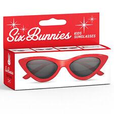 SIX BUNNIES Kids Sunglasses Cat Eye red - Sonnenbrille Retro Rockabilly NEU
