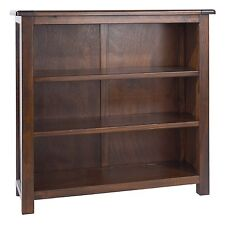 Low Bookcase Dark Wood Baltia Bookcase Display Unit Solid Wood Living Furniture