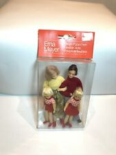 Miniature Family of Four #10972 Dollhouse Dolls Handcrafted Erna Meyer