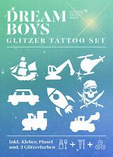 Glitzer Tattoo Set HappyKids 24 teilig Dream Boys Kinderfest komplett Set