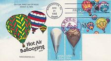 COLLINS HAND-PAINTED FDC FIRST DAY COVER - 1983 HOT AIR BALLOONING AVIATION - #2