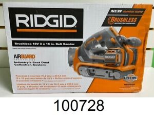 RIDGID 8-Volt GEN5X Cordless Brushless Belt Sander (Tool Only) R86065B NEW