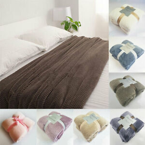 Super Soft Fluffy Faux Fur Blanket Lightweight Bed Warm Thick Blanket Bedding