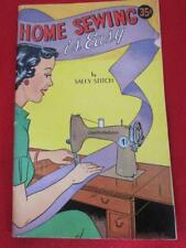 Vintage 1950s Home Sewing Is Easy By Sally Stitch Comic Book Mershaw Publishing