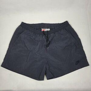"Nike Vintage Running Shorts Men's L Black Nylon 30"" Drawstring RN56323 Large"