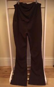 mamas and papas ten corduroy under bump flared trousers maternity 18 20 long new