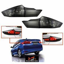 LH+RH LED Black Smoked Tail lights Flow light Fit Honda City GM 6 Strips 2014+