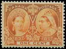 Canada #51 mint VF OG NH DG 1897 Queen Victoria 1c orange Jubilee CV$40.00